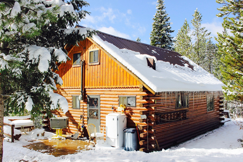 Hunting cabin located in the mountains of Idaho