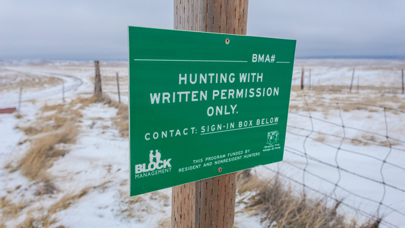 Hunting with written permission