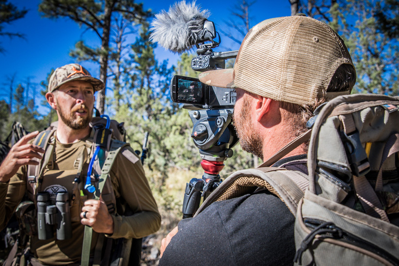 Hushin filming on a hunt