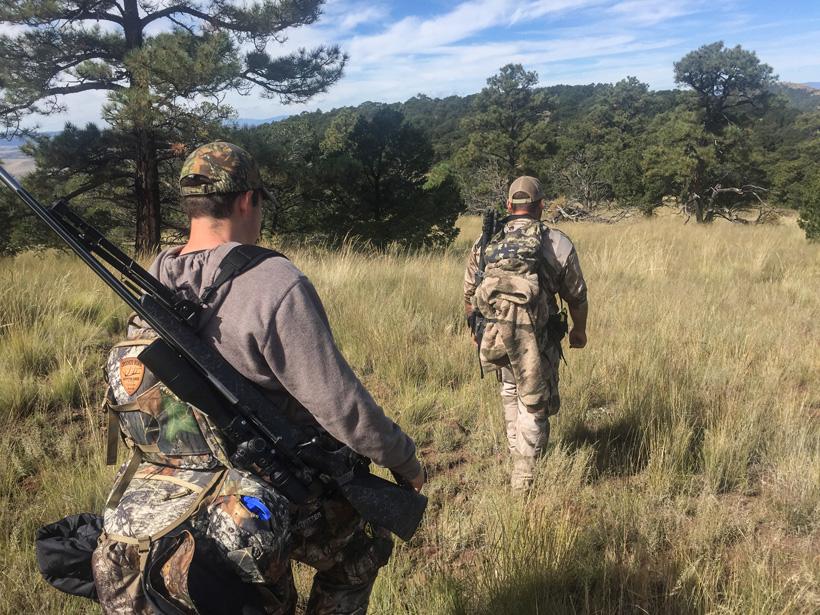 Hutner Agnetti hiking for elk