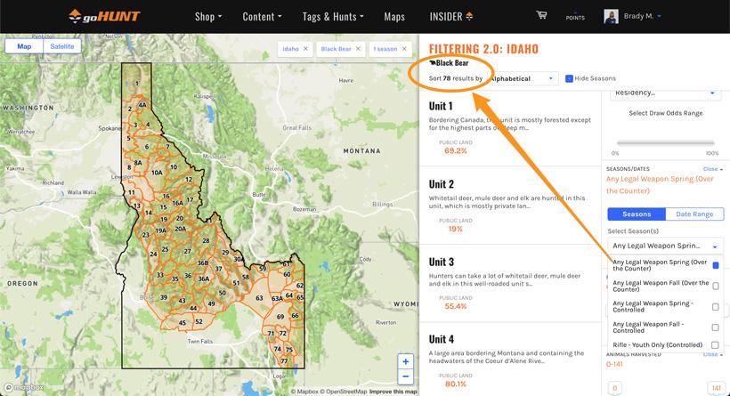 Idaho over the counter black bear hunts
