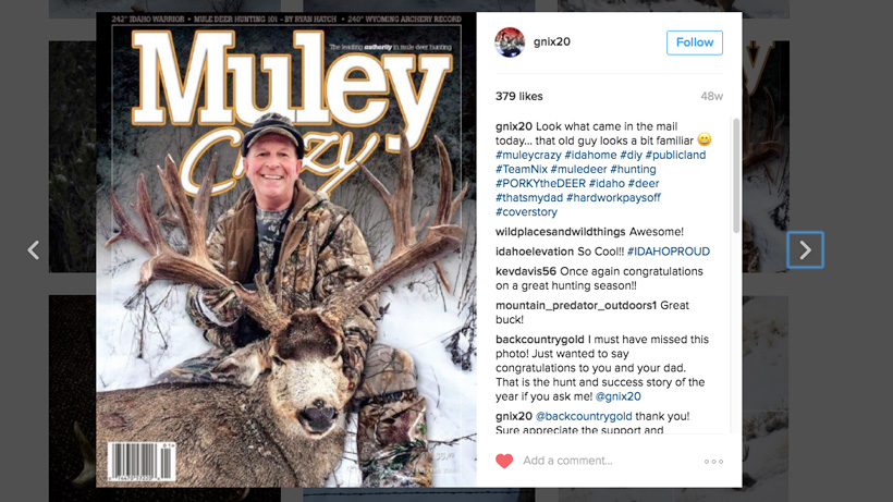 Idaho poached mule deer on the cover of muley crazy magazine