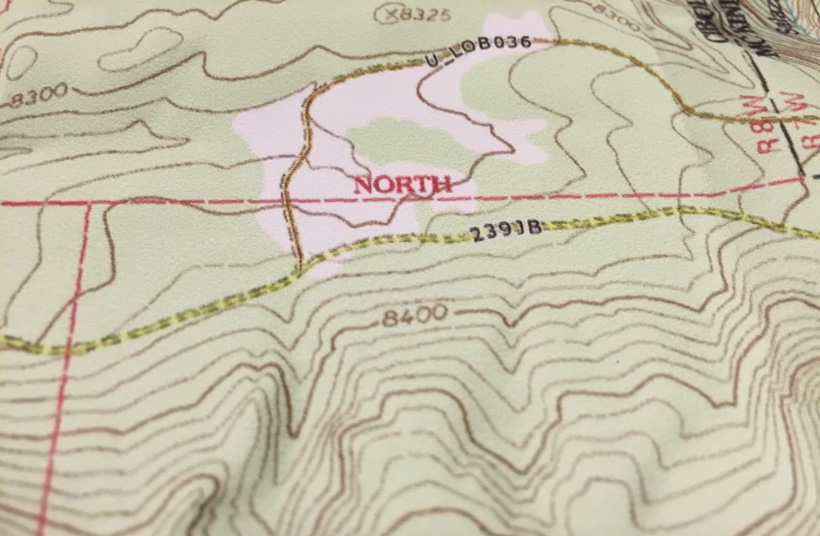 Index contour lines on a topographic map
