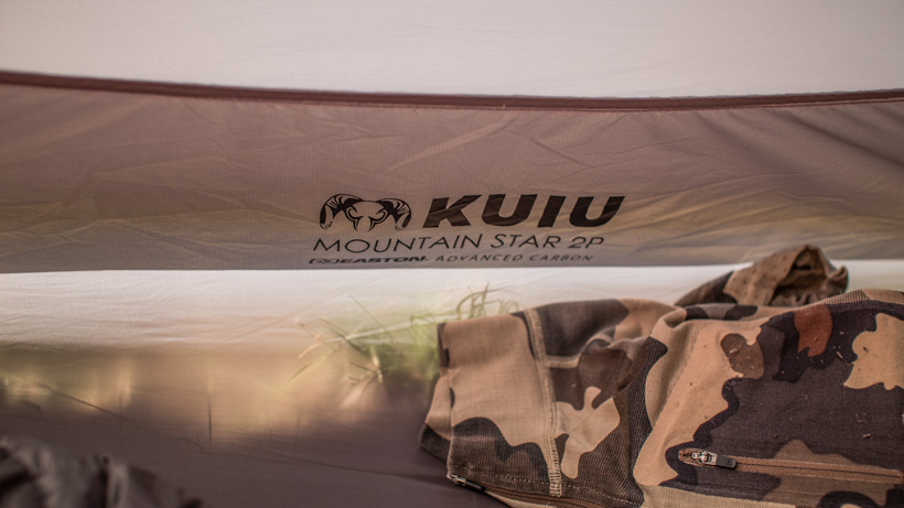 Inside the KUIU Mountain Star two person tent