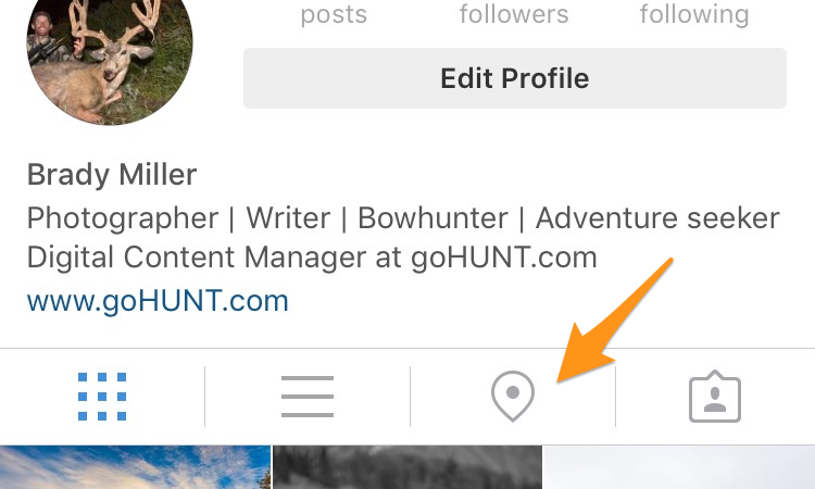 Instagram photo map button