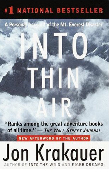 Into thin air book