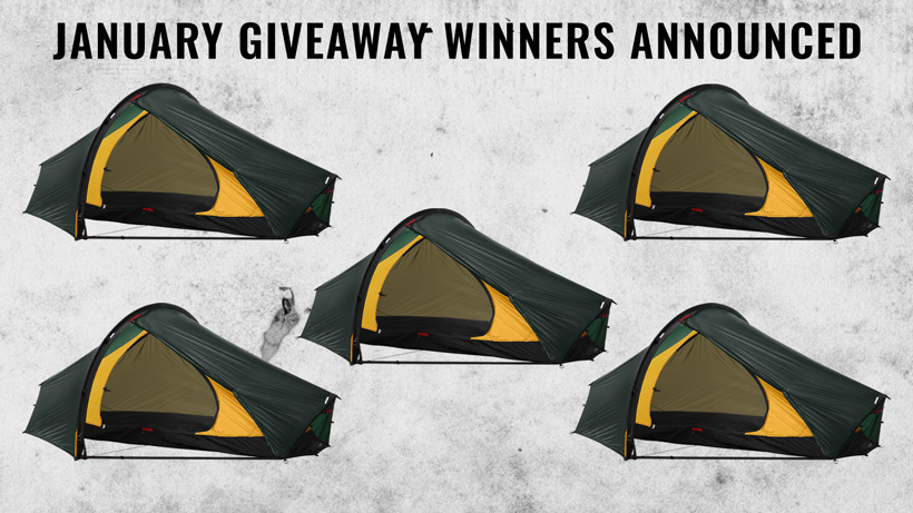 January Hilleberg Enan giveaway winners announced