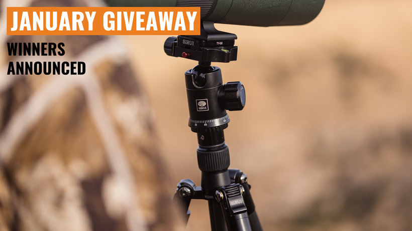 January INSIDER Sirui tripod giveaway winners