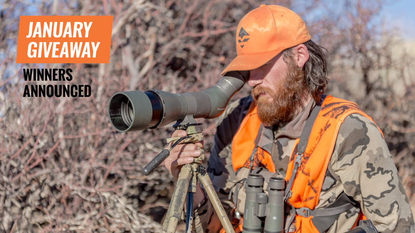 January Vortex Razor HD spotting scope winners
