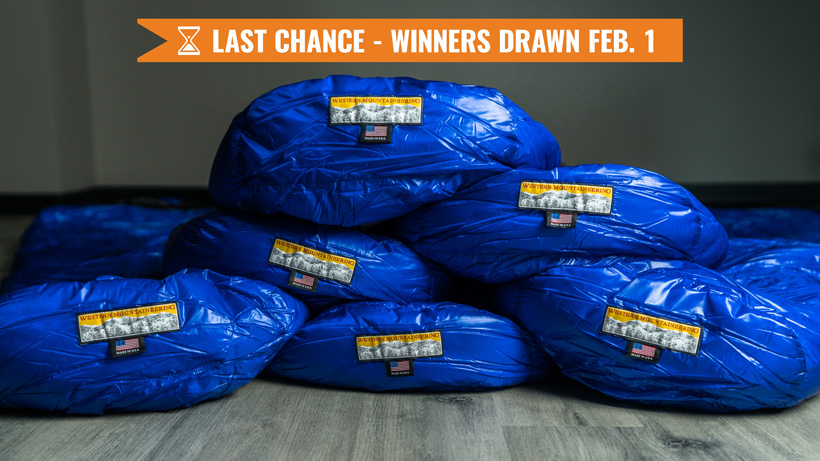 January Western Mountaineering sleeping bag giveaway last chance