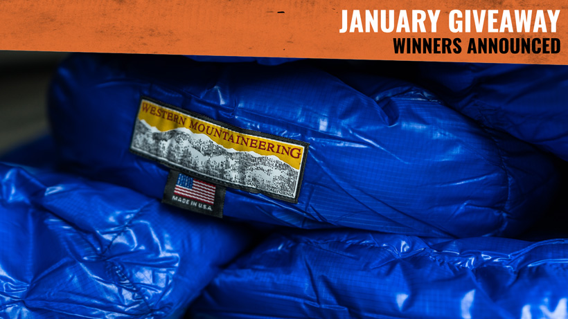 January goHUNT Western Mountaineering sleeping bag giveaway winners