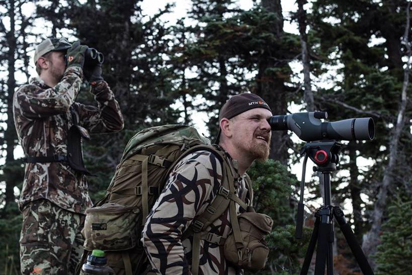 Jason Phelps glassing for elk