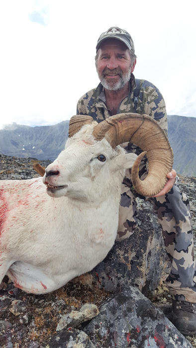 Jeff McDonald with his Alaska Dall sheep side view