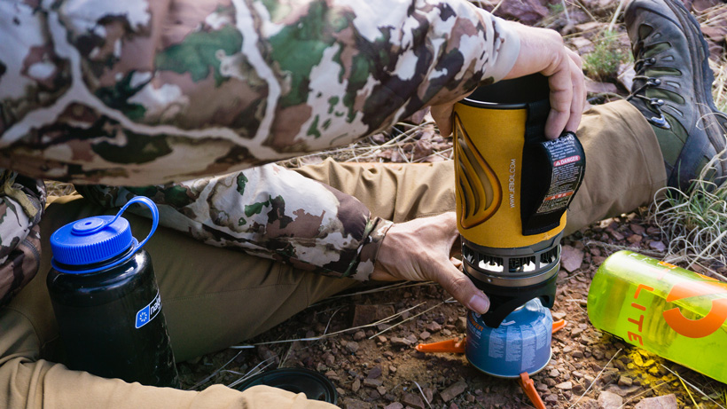 JetBoil stove for backcountry cooking