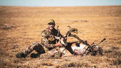 Trail Kreitzer with his antelope buck