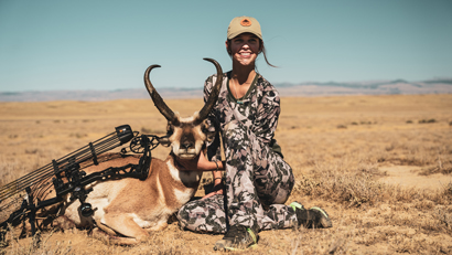 Jillian Sanford with her antelope buck