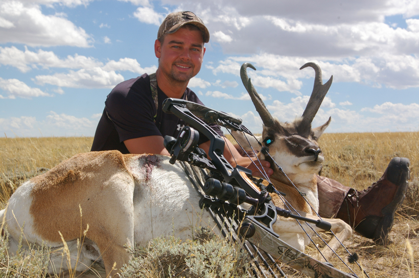Jonathan with his archery antelope buck