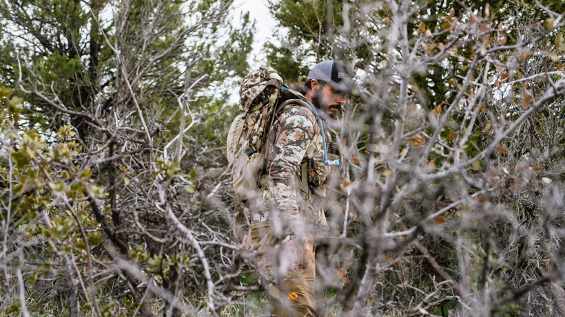 Josh Kirchner First Lite clothing while hunting