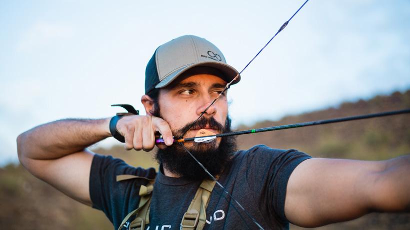 Josh Kirchner doing some long range archery practice
