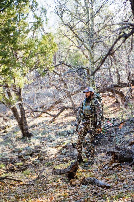Josh Kirchner making a stalk on a mule deer