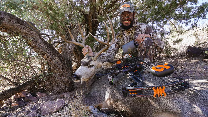 Josh Kirchner with his December 2017 Arizona archery mule deer
