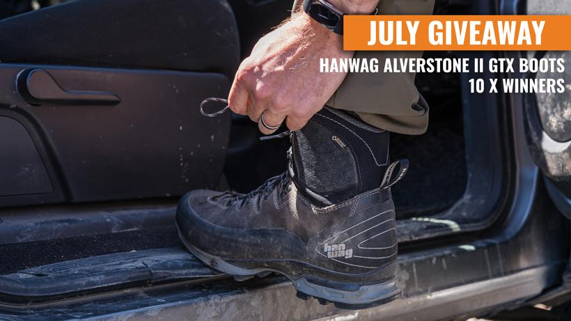 July INSIDER giveaway 10 Hanwag Alverstone II GTX boots