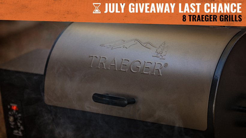 July goHUNT INSIDER Traeger Grill giveaway last chance