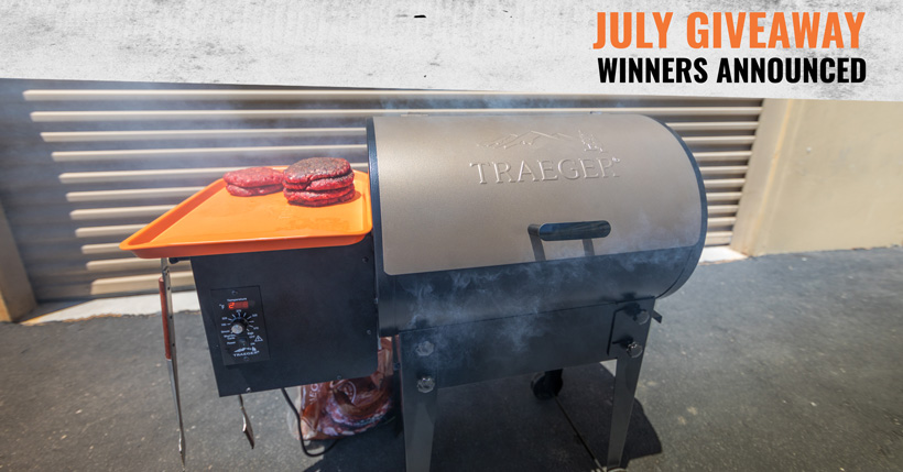 July goHUNT INSIDER Traeger Grill giveaway winners
