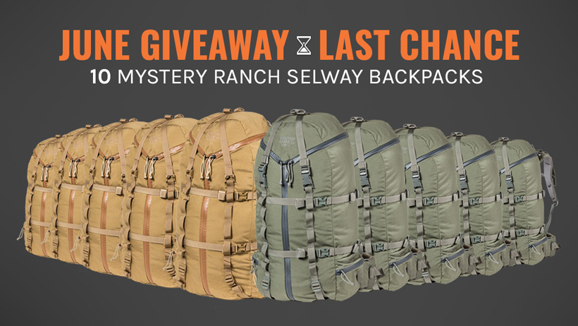 June INSIDER Mystery Ranch Selway backpack giveaway last chance