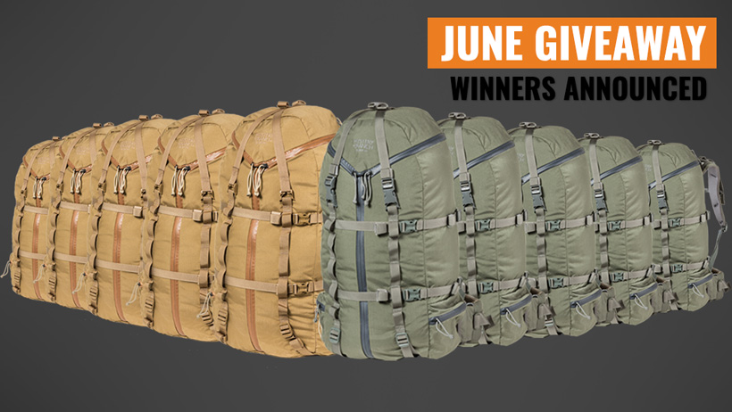 June INSIDER Mystery Ranch Selway backpack giveaway winners