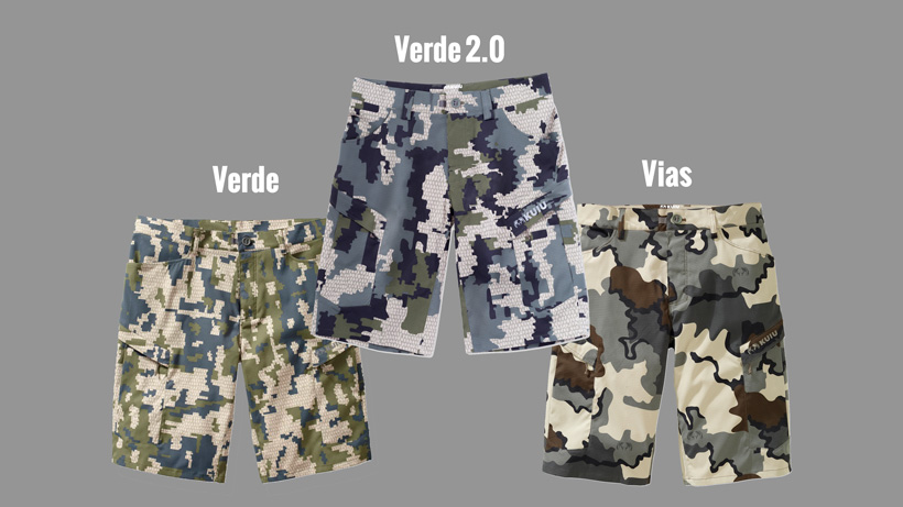 KUIU camo patterns Verde, Verde 2.0 and Vias