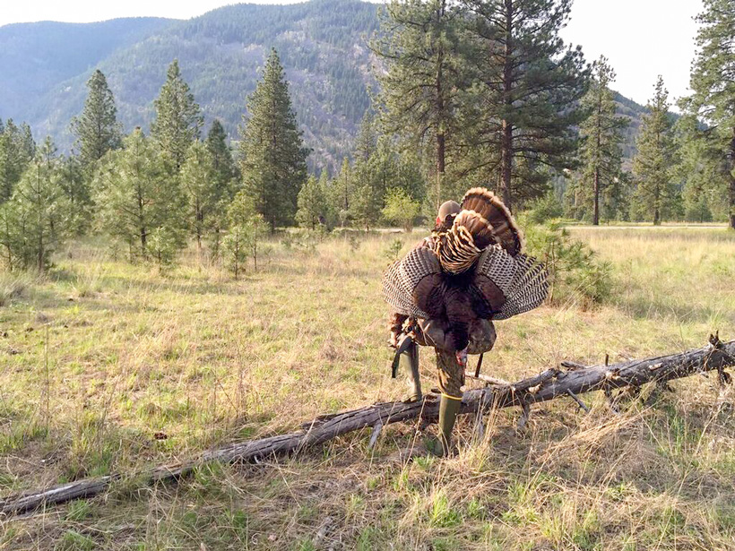 Keith Ott on a successful turkey hunt
