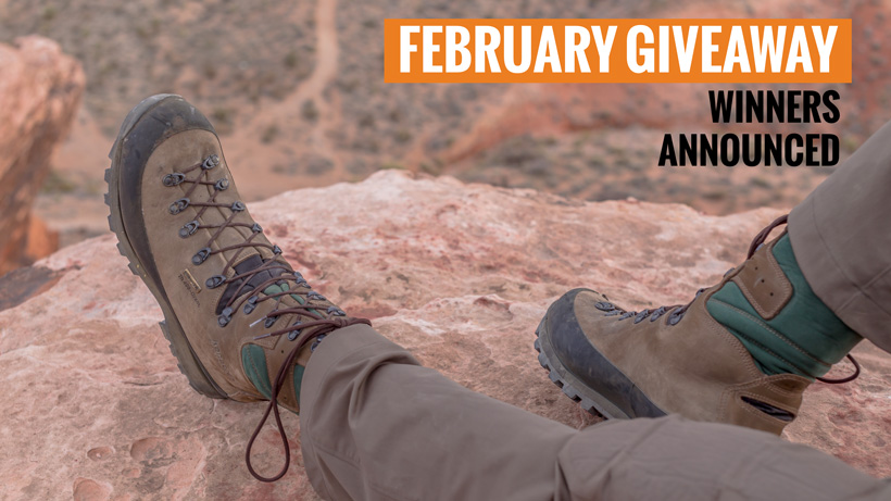Kenetrek Mountain Extreme boot giveaway winners