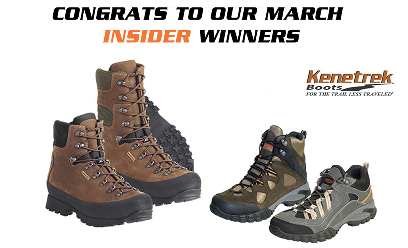 Kenetrek boot giveaway winners