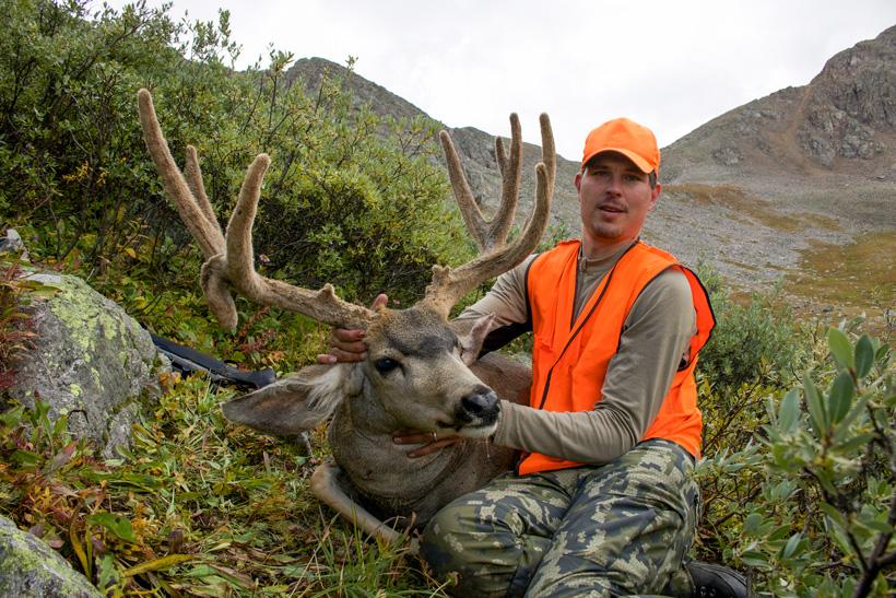 Kevin Clerkin with his Colorado velvet mule deer buck