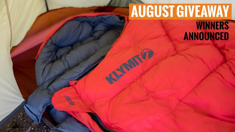 Klymit KSB zero degree sleeping bag giveaway winners