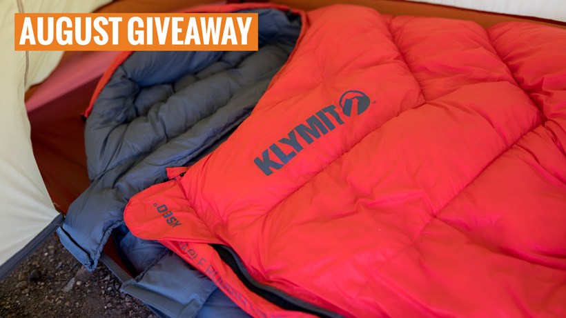 Klymit KSB zero degree sleeping bag giveaway