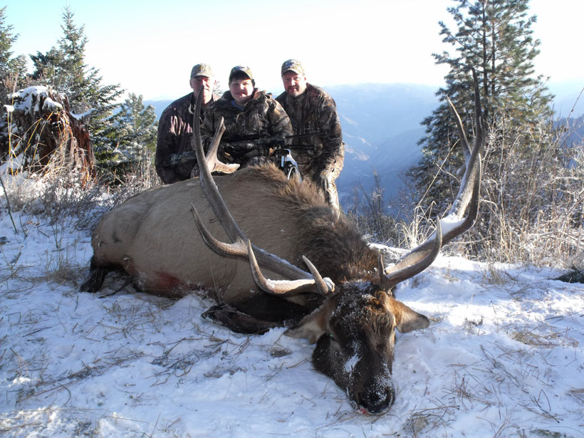 Kobey Bonin from Banks, Oregon (age 15) and his dream elk