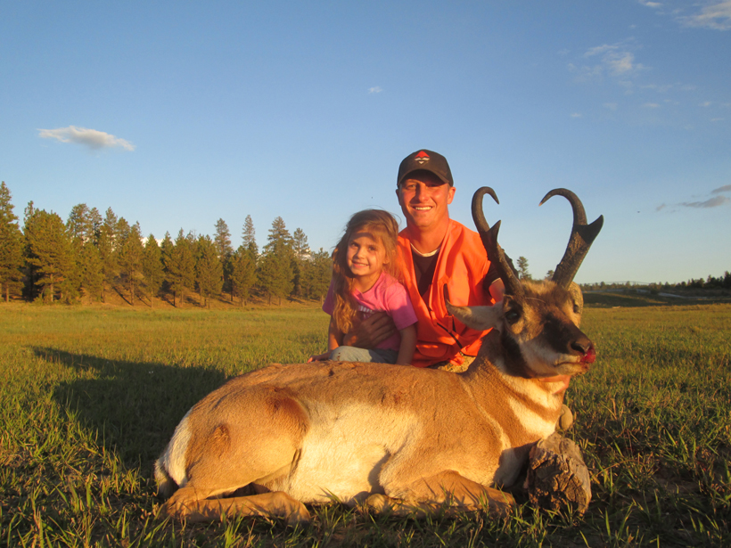 Kody Smith's 2014 antelope with his daughter
