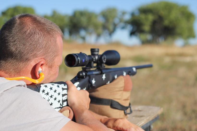Kody Smith shooting his custom built rifle