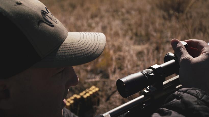 Practice long distance rifle shots