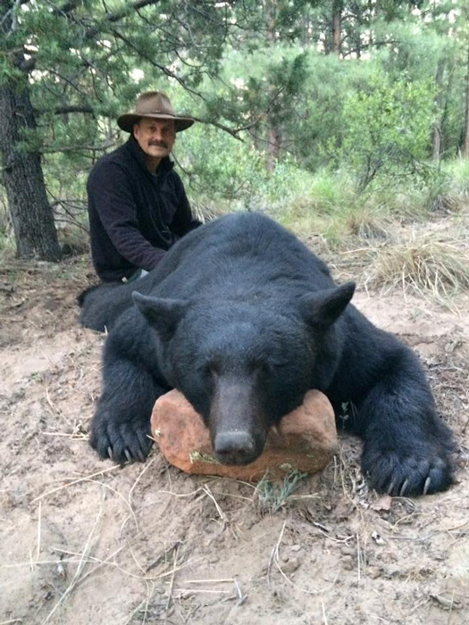 Large black bear taken with Arizona High Country Outfitters