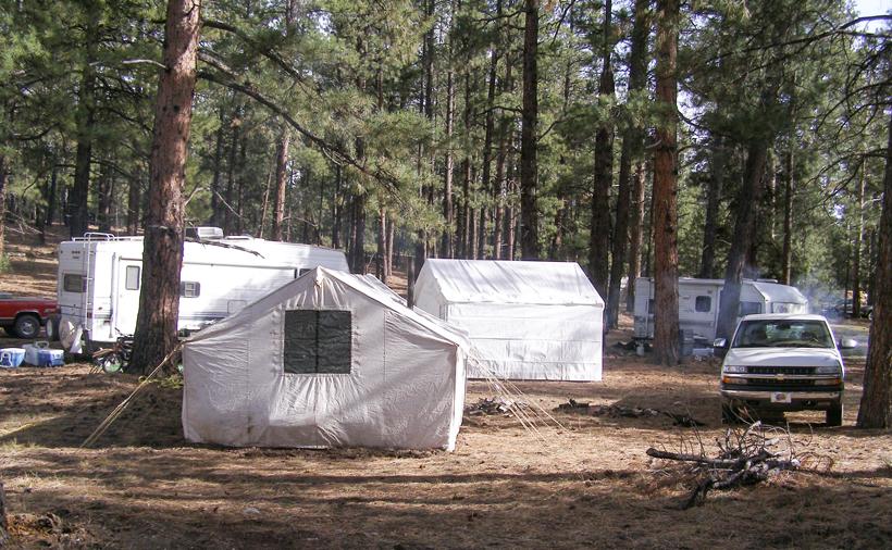 Mule deer hunting camp on the West Kaibab