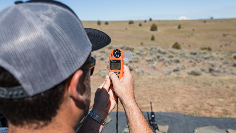 Learning how to use a Kestrel wind meter