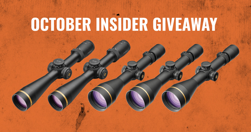 Leupold riflescope giveaway for INSIDERs