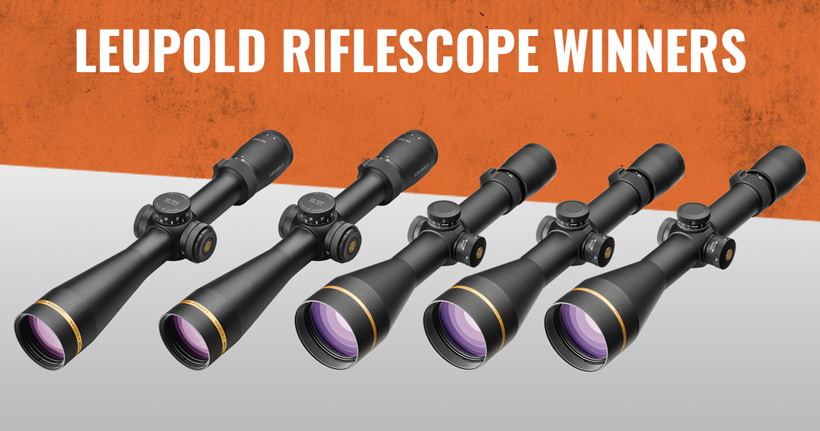 Leupold riflescope giveaway winners