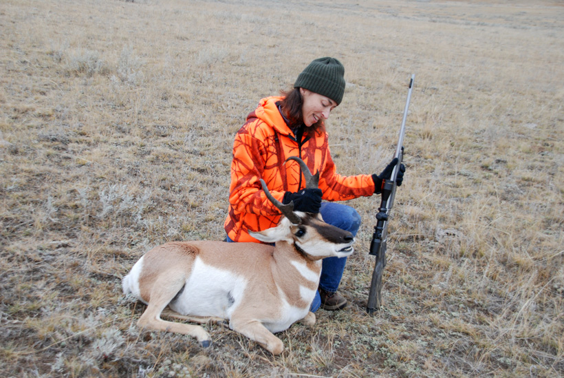 Lisa Ballard with her antelope buck