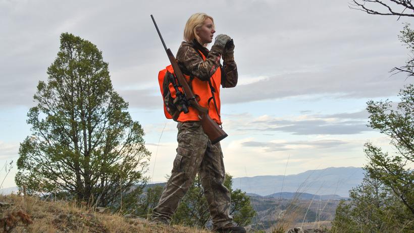 Liza Sautter during a Sunday Montana elk hunt