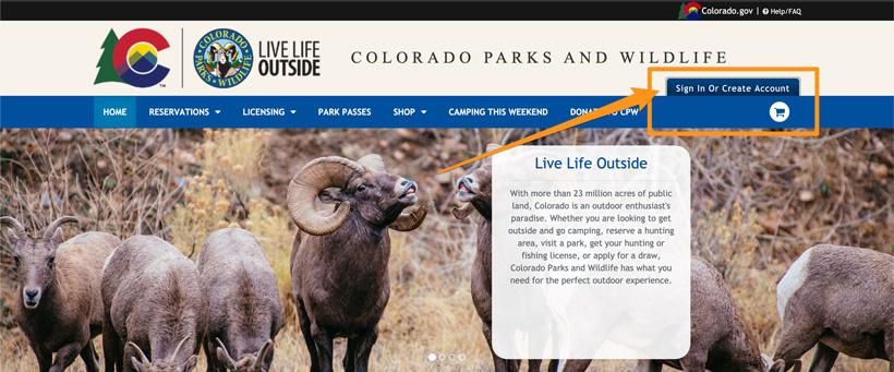 Login to Colorado account