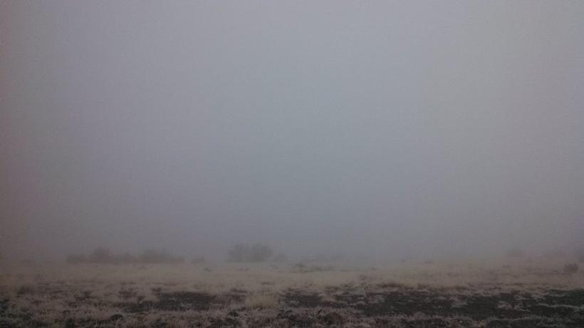 Lots of fog while hunting elk in Arizona